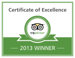 TripAdvisor Certificate of Excellence 2013 SeaSquared Charters Marathon Florida Keys