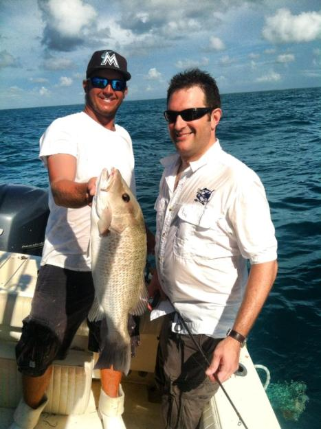8lb mangrove snapper, Capt. Chris Johnson, SeaSquared Charters, Marathon Florida Keys